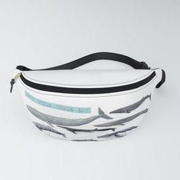 Happy world whale day Fanny Pack