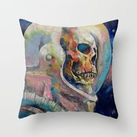 astronaut Throw Pillows featuring Astronaut by Michael Creese