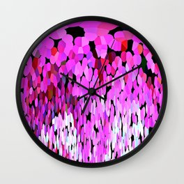 Pink Cotten Candy Waterfall Abstract Wall Clock