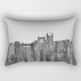 Bath, England Skyline - Navaho B&W Rectangular Pillow