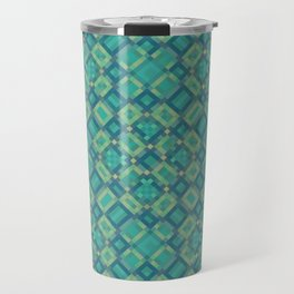 EMERALD cubic green prisms in abstract repeat pattern Travel Mug