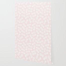 Pineapple pattern on pink 022 Wallpaper