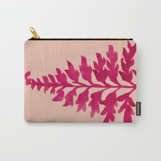 Pink Fern Carry-All Pouch