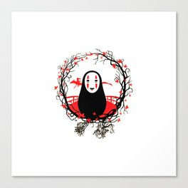 Evil Without Face Canvas Print