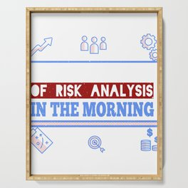 Love the Smell of Risk Analysis Actuary Actuaries Serving Tray