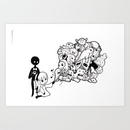 The Mysterious Piano Player Art Print