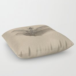Dragonfly Fossil Dos Floor Pillow