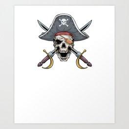 Pirate Aunt Funny Bow Arrow Sport Hunter Art Print