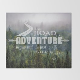 The Road To Adventure Throw Blanket