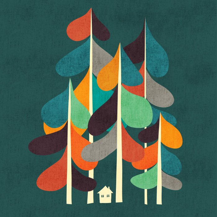 Cabin in the woods Duvet Cover