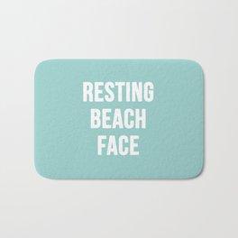 Resting Beach Face Bath Mat