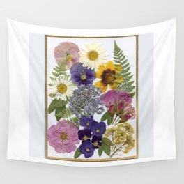 Pressed Flower Garden Wall Tapestry