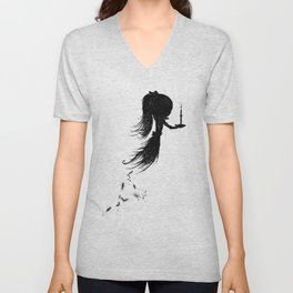 Little Soul and Candle by Carine-M Unisex V-Neck