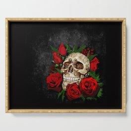 Red Rose Sugar skull Serving Tray