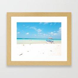 Lone boat feelin' blue Framed Art Print