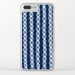 White Strings Clear iPhone Case