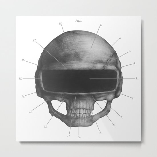 Anatomy of Daft Punk Metal Print