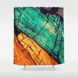 Epidote and Quartz Shower Curtain