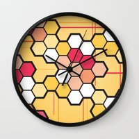 community Wall Clocks featuring Community by Barb Sotiropoulos