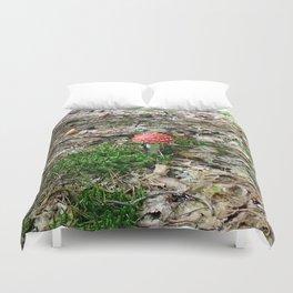 fly agaric mushroom Duvet Cover