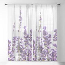 Purple Lavender #1 #decor #art #society6 Sheer Curtain