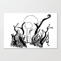 walk the moon Canvas Prints featuring Moon Walk by Karina O'Brien