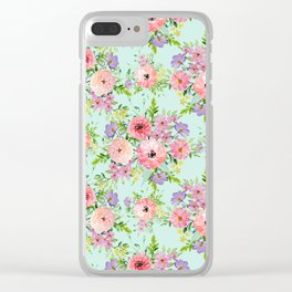Blooming floral bouquet watercolor hand paint Clear iPhone Case