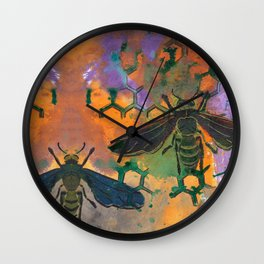 Insects that Fly Wall Clock