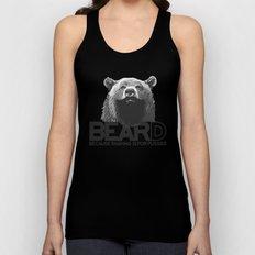Bear and beard Unisex Tank Top