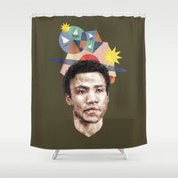 caleb troy Shower Curtains featuring Troy by mycolour