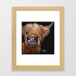 Scottish Highland Cow ' HENRY ' by Shirley MacArthur Framed Art Print