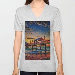 Pier 60, Clearwater Beach Unisex V-Neck