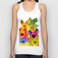 pigs Tank Tops featuring Fun Pigs by Hans Wilhelm