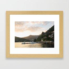 Como Boats at Sunset Framed Art Print