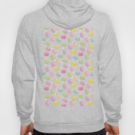 Decorative background with colorful and polka dot macarons Hoody