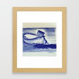 Il faro Framed Art Print