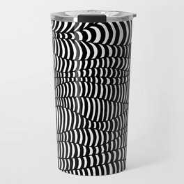 Black and White surreal lines. Inspired by art of Escher Travel Mug