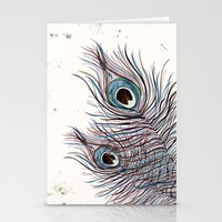 peacock Stationery Cards featuring PEACOCK by Monika Strigel