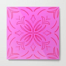 Pink Classic Tile Metal Print