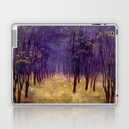 Melancholic autumn forest Laptop & iPad Skin