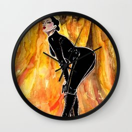 Goddess Alexandra Snow Wall Clock