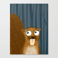 beaver Canvas Prints featuring Beaver by makoshark