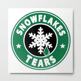 snowflakes tears Metal Print