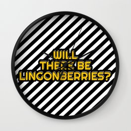 Will there be Lingonberries? Wall Clock
