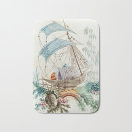 Chinoiserie Embroidery Bath Mat