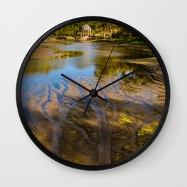 Lake patterns,Larz Aderson park Wall Clock