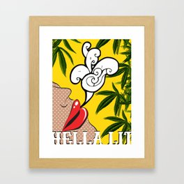 Hella Lit Framed Art Print