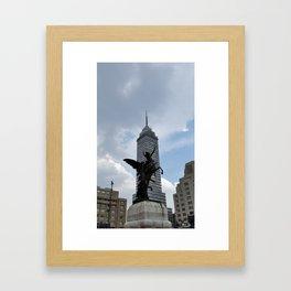 Latino tower Framed Art Print