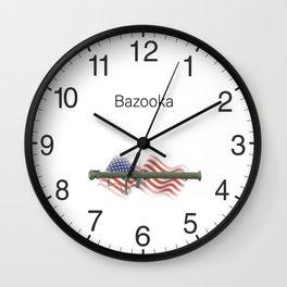 Patriotic Bazooka Rocket Launcher Weapon Wall Clock