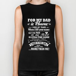 for my dad in heaven i dad Biker Tank